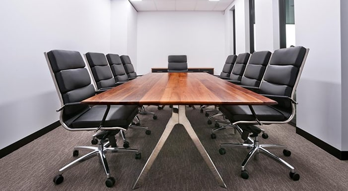 boardroom with 9 seats