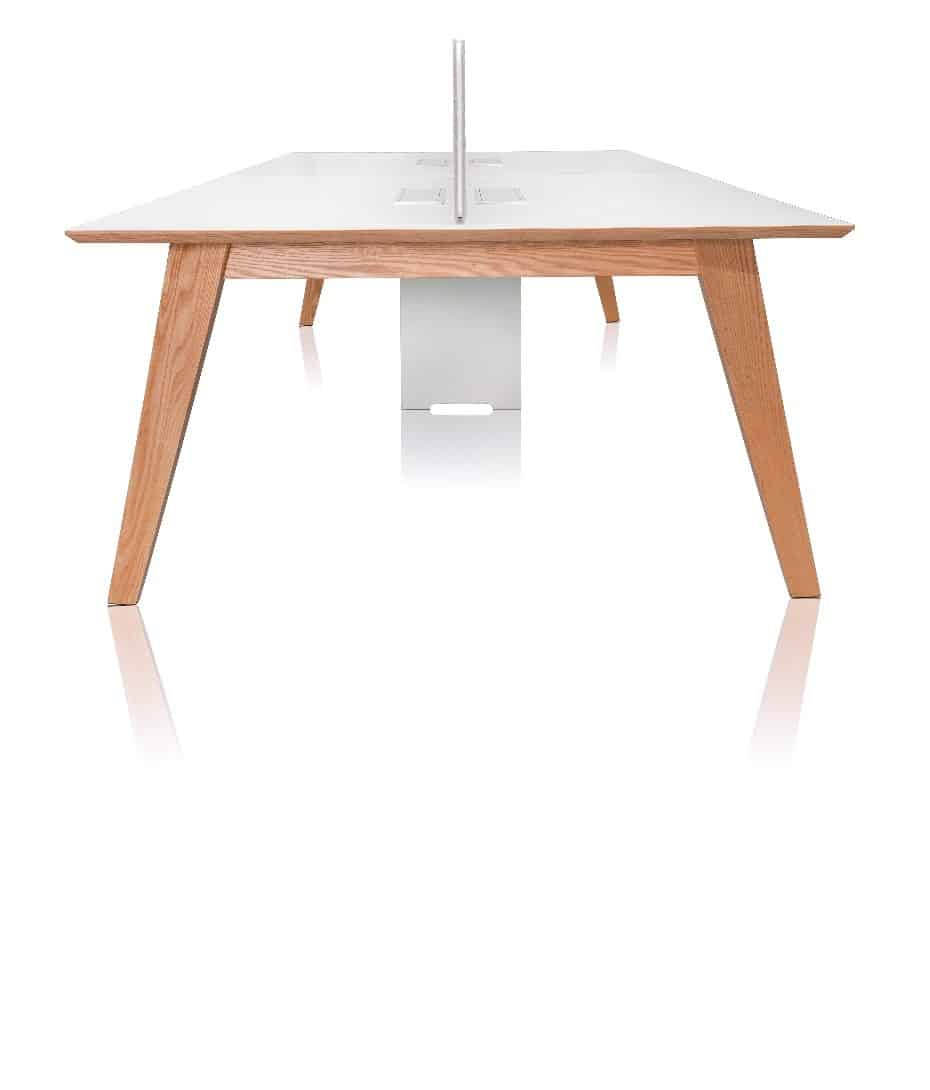 Serafino american oak office workstation