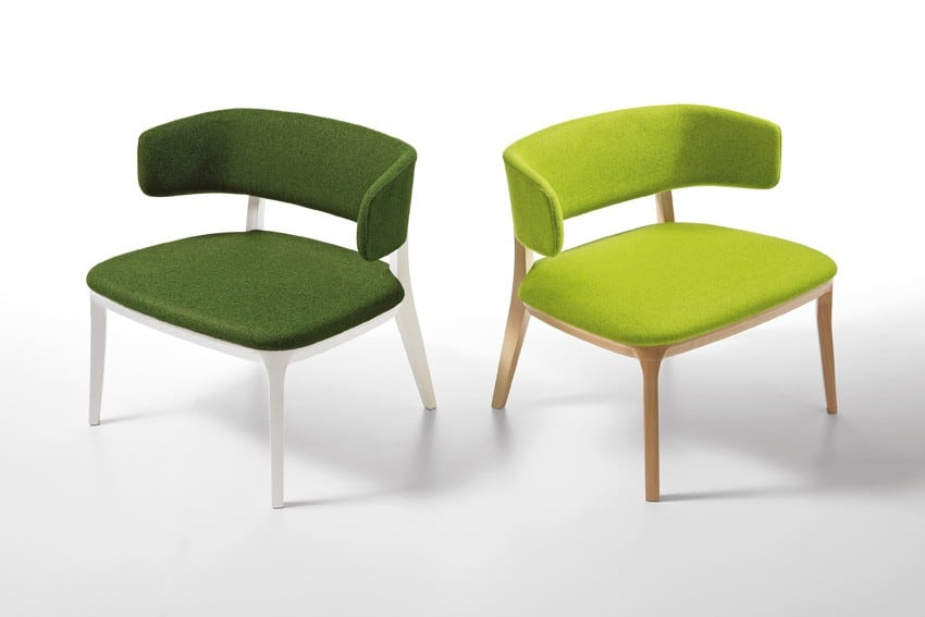 dark and light green Anika office chairs