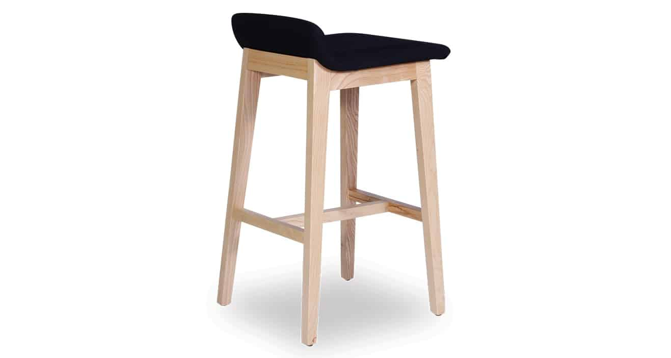 black Cleo Stool angled view