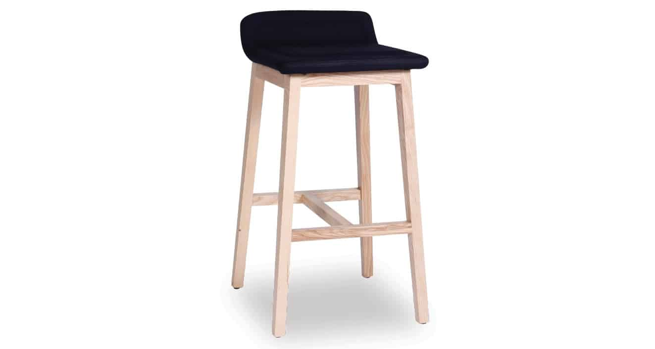black Cleo Stool front view