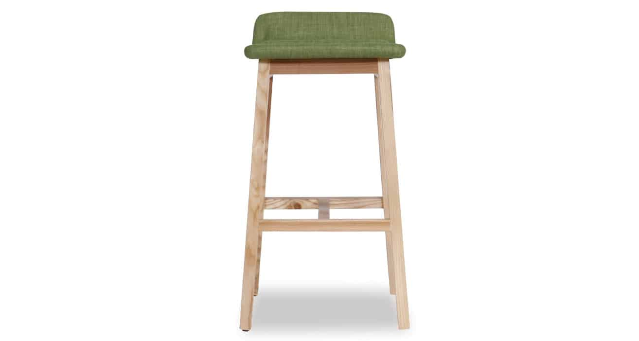 green Cleo Stool front view