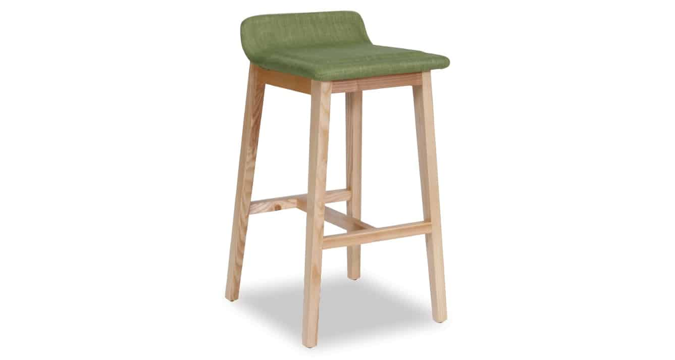 green Cleo Stool angled view