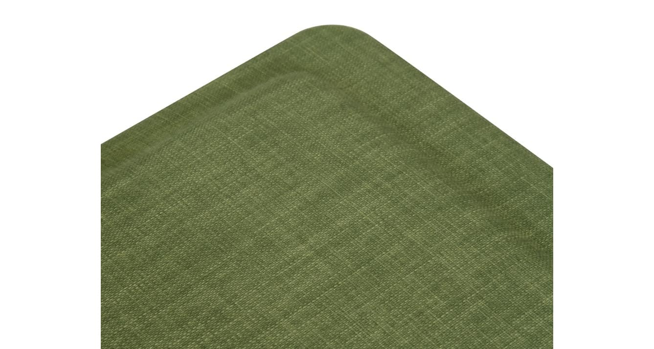 Green linen for Cleo office chair angled