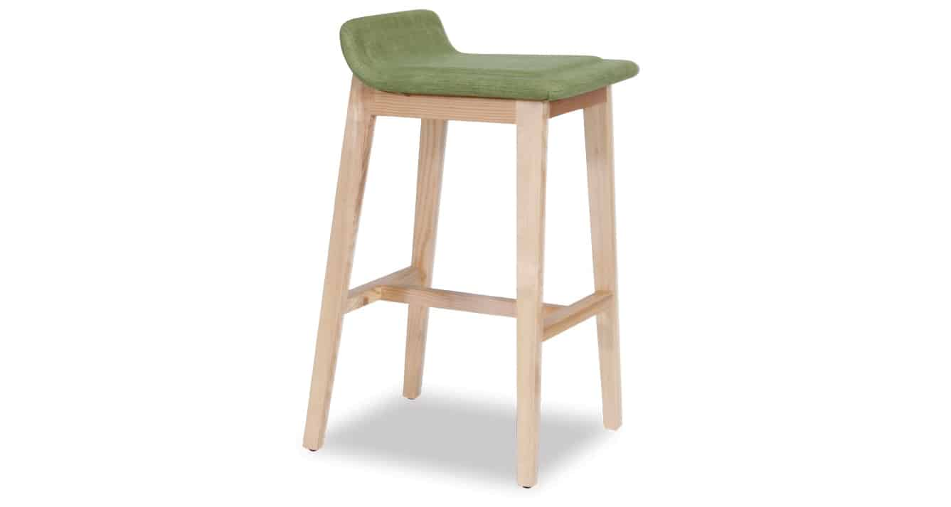 green Cleo Stool side view