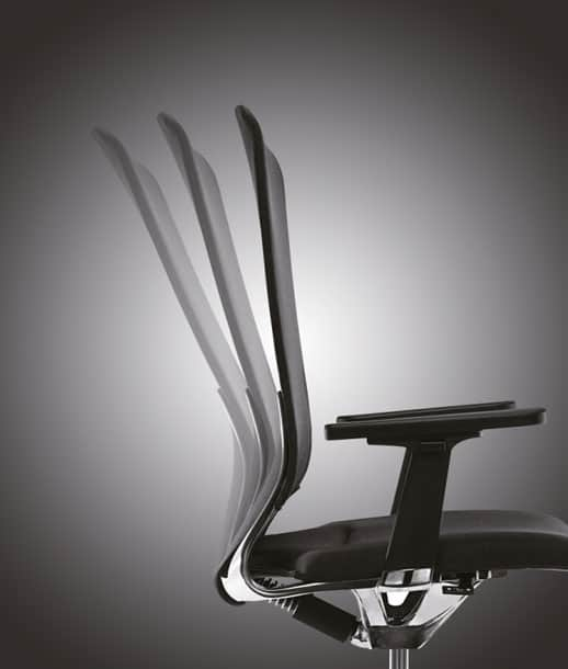 Contessa office chair reclining backrest