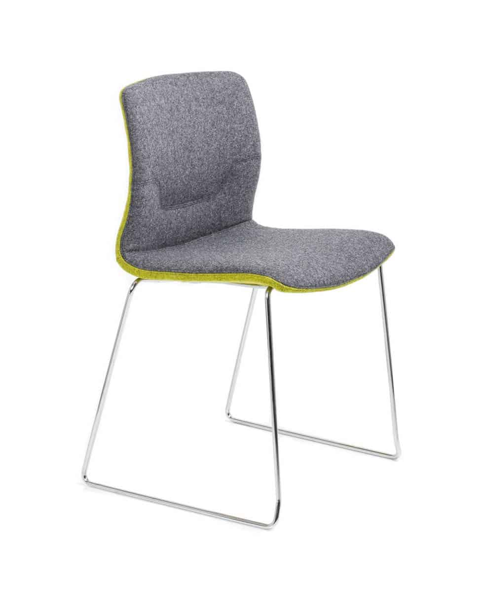grey and green Capper chair with fixed legs