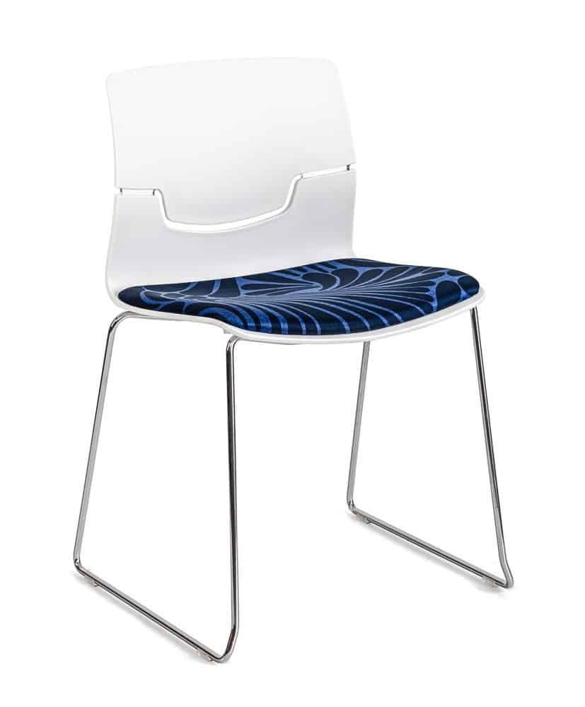 white and blue Capper chair