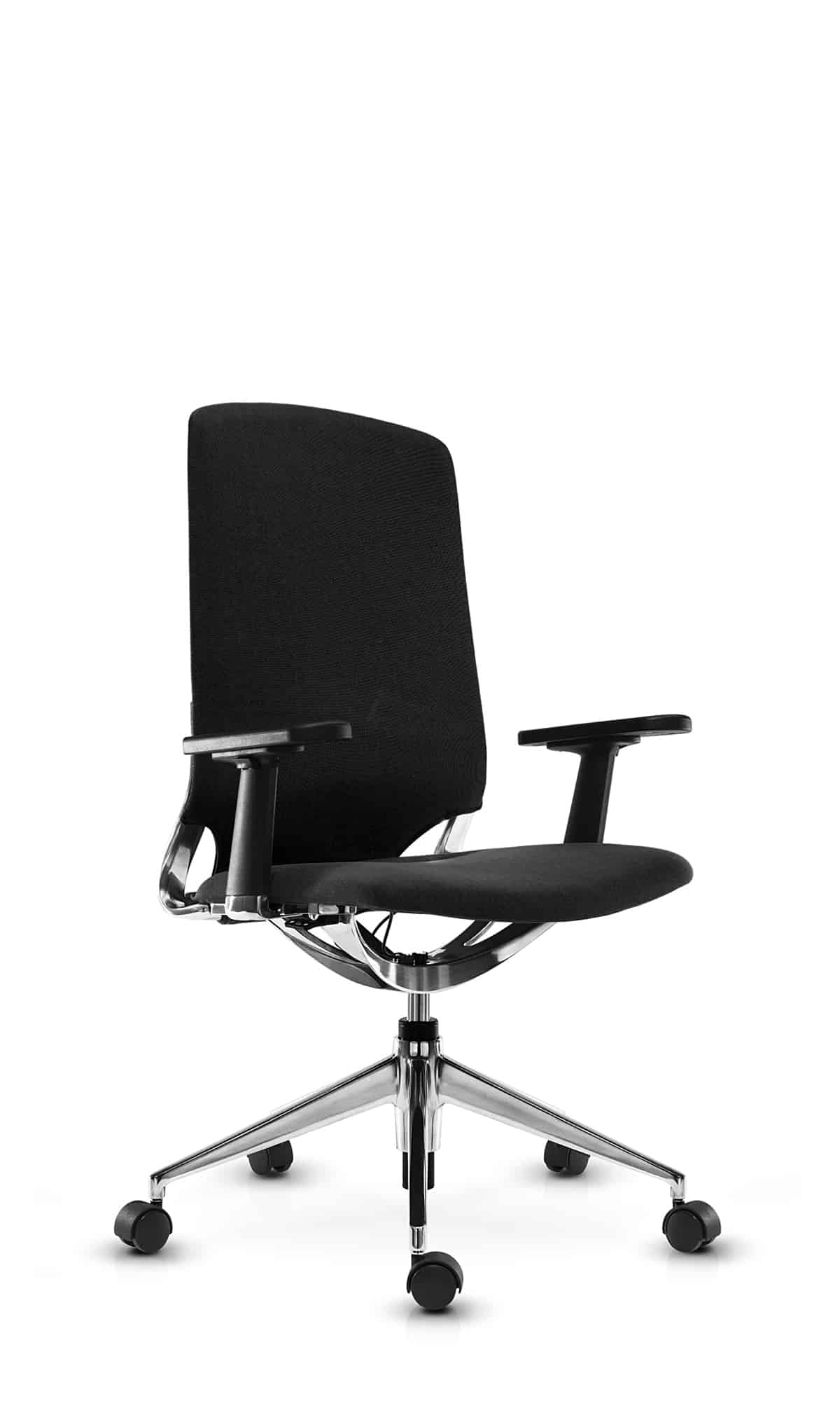 Contessa office chair black with shorter backrest
